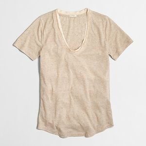 J. Crew Satin Trim T-shirt